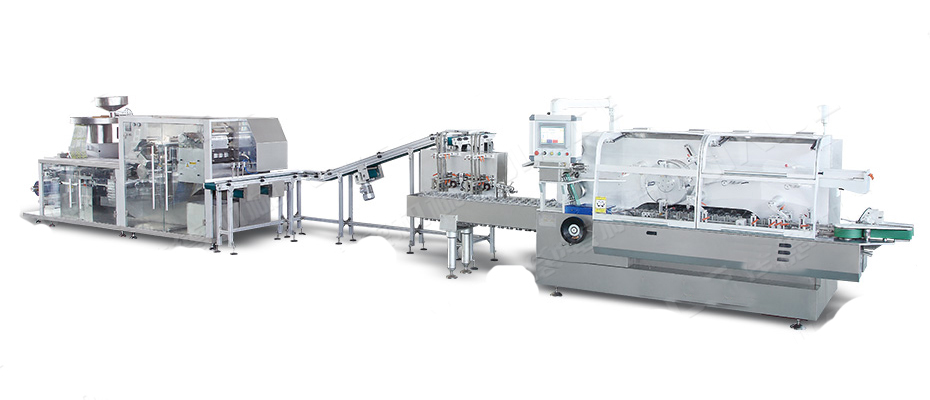 DPH-260 Automatic High Speed ALU-PVC Blister Packing Machine And Cartoning Machine Production line